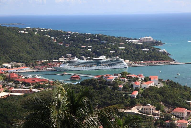 karibisk kryssningship royaltyfri foto