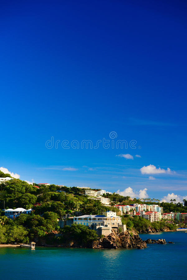 Karibisk kryssningsolnedgång arkivbild