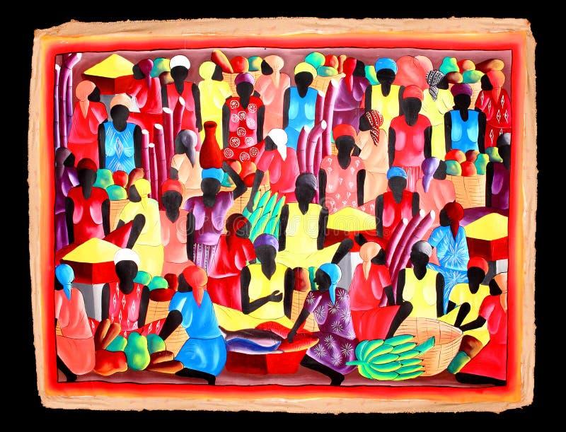 Karibisk lokal konstmålning royaltyfria bilder