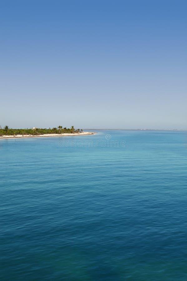 karibisk mexikansk havsturquioisesikt royaltyfria bilder