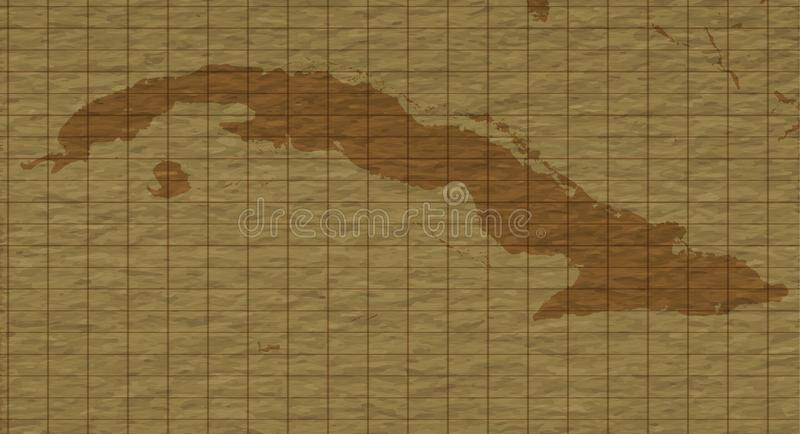 Karibisk Retro översikt, plan vektorillustration vektor illustrationer
