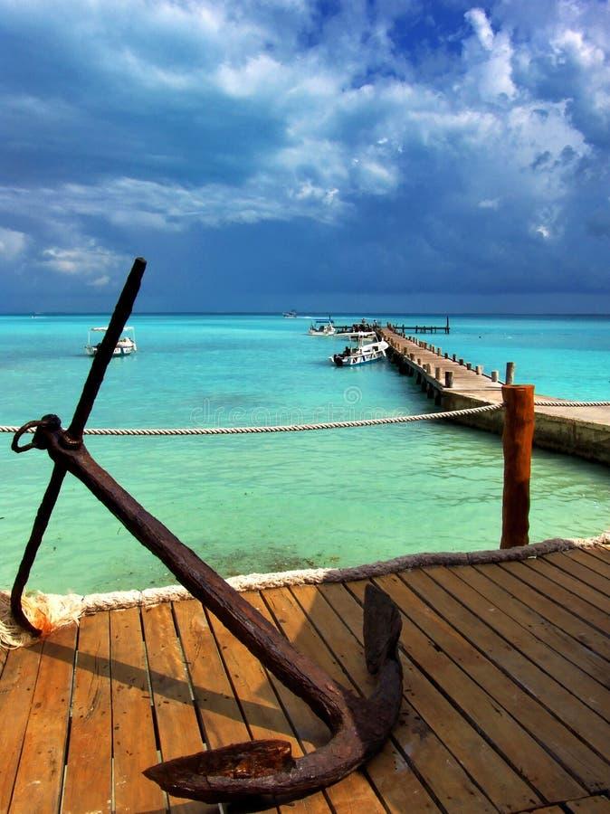 karibisk seascape fotografering för bildbyråer