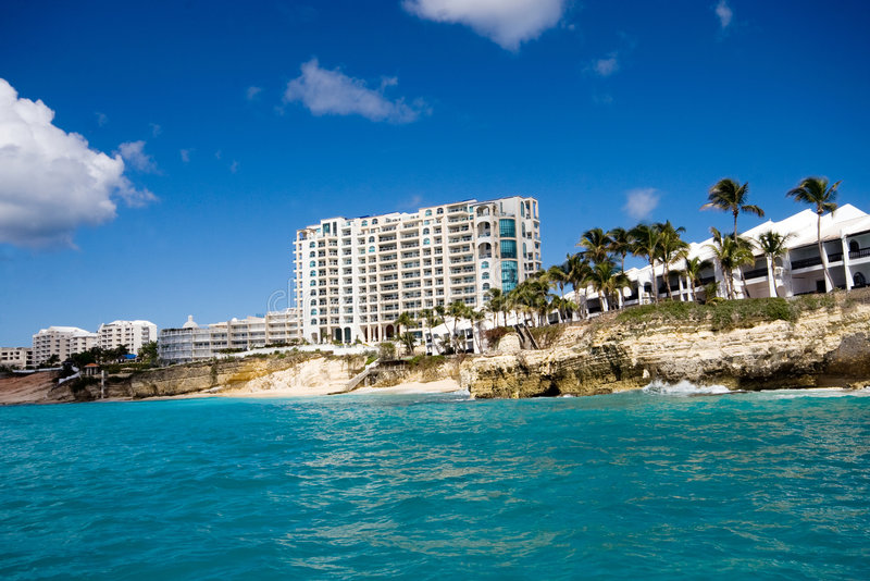 Karibisk semesterort royaltyfria foton