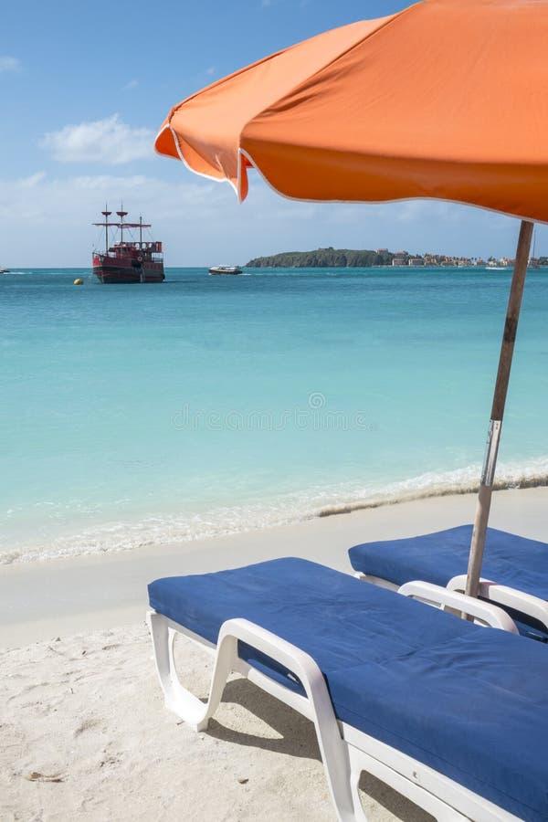 Karibisk strand 2 arkivbild
