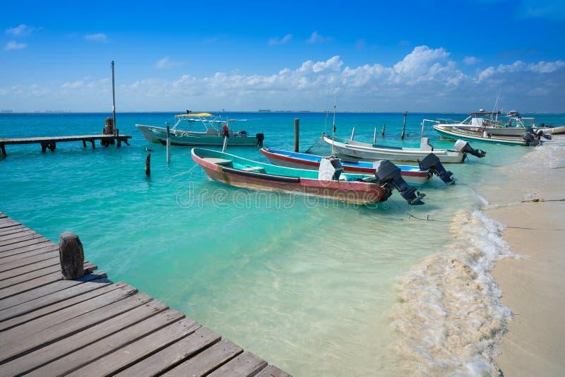 Karibisk strand Mexico för Isla Mujeres ö arkivfoto