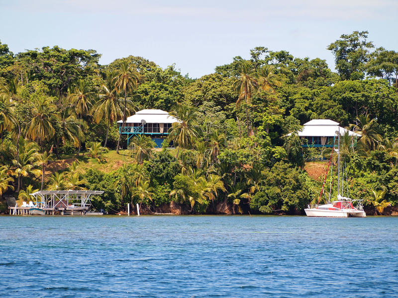karibiska hus panama arkivbild