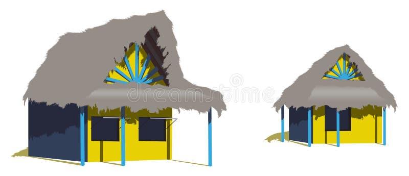 karibiska kojor två för strand stock illustrationer