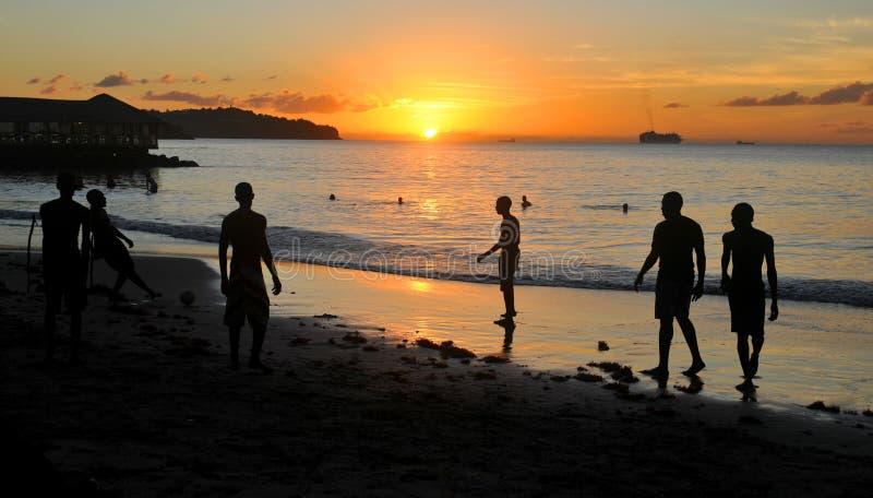 Karibiska turister arkivbild