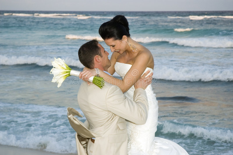 karibiskt celebröllop för strand royaltyfria foton