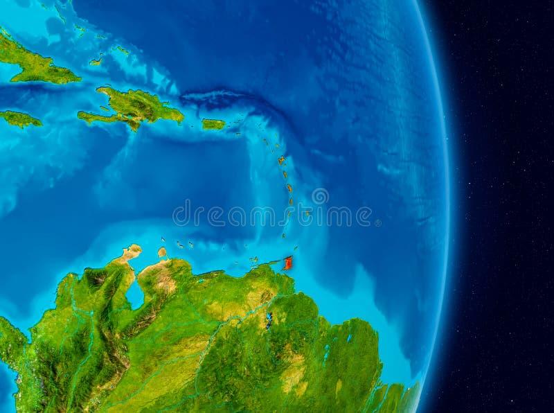 Karibiskt från utrymme royaltyfria bilder