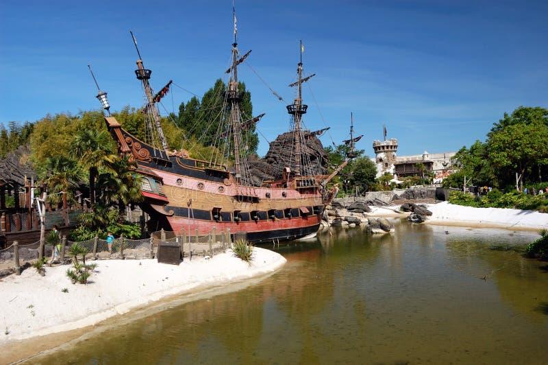 karibiskt piratkopierar tema royaltyfri bild