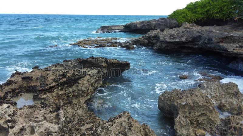 karibiskt vatten royaltyfria bilder