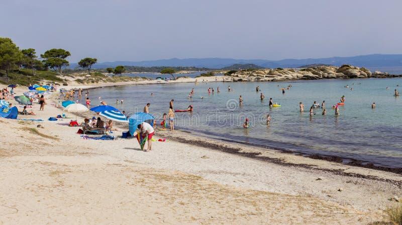 Karidi plaża, Grecja obraz stock
