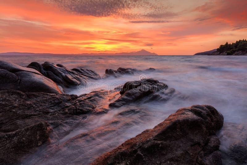 Karidi plaża Sithonia, Grecja obrazy royalty free