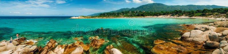 Karidi plaża w Vourvourou, Sithonia, Grecja zdjęcia royalty free