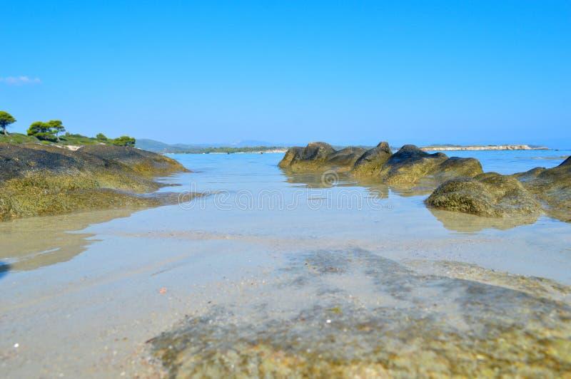 Karidi plaży szczegóły zdjęcie stock