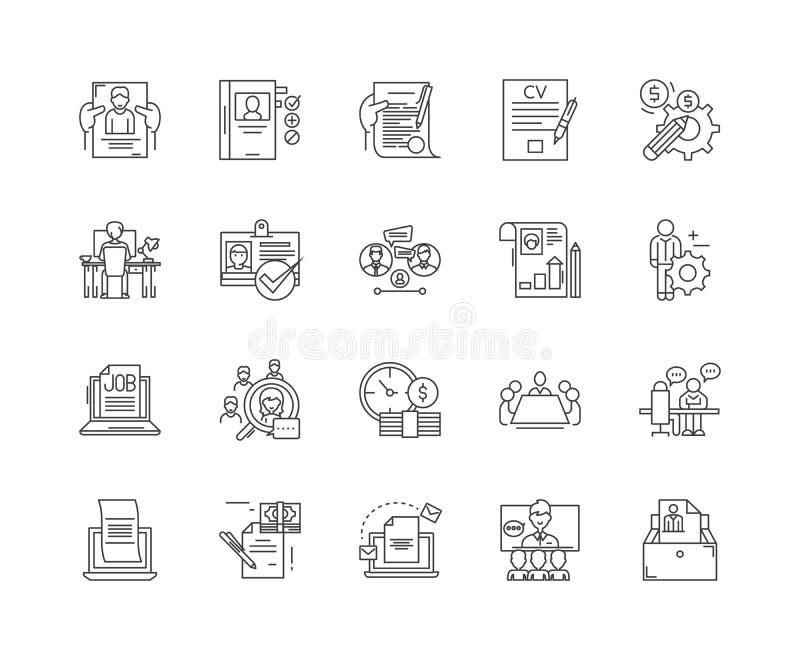 Karier kreskowe ikony, znaki, wektoru set, kontur ilustracji poj?cie ilustracji