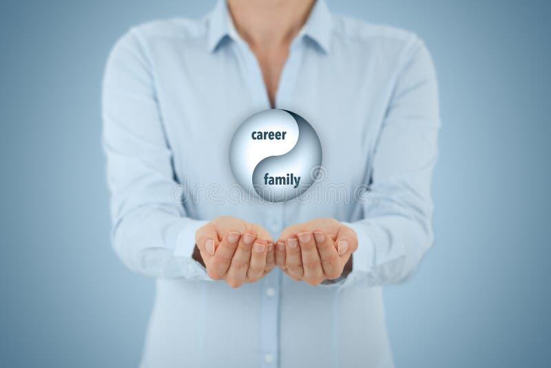 Kariera i rodziny równowaga obrazy stock