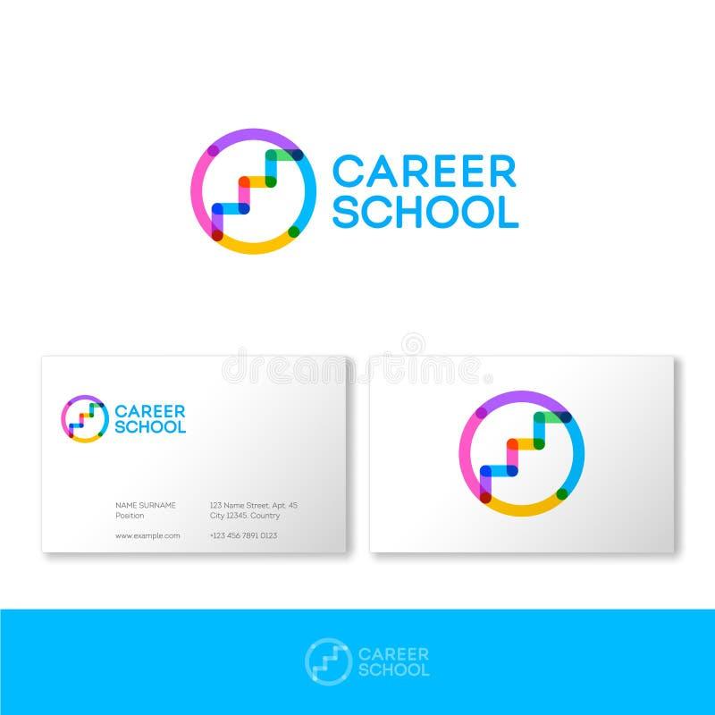 Kariera szkolny logo HR logo Kariera usługuje loga Schodki na w górę okręgu składają się przejrzystych elementy ilustracji