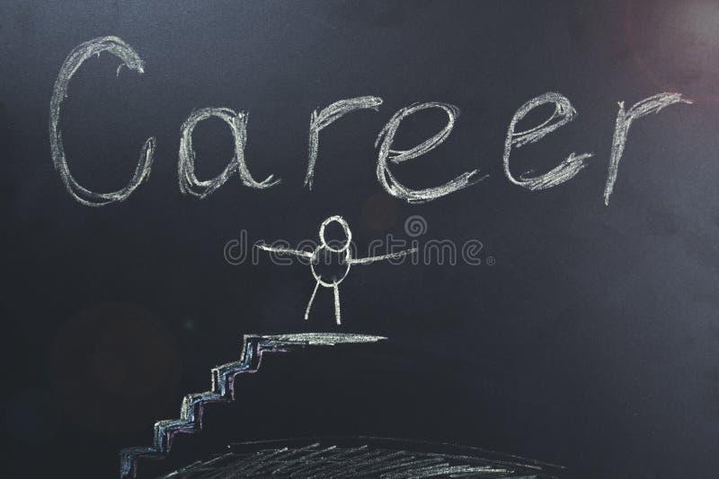 Kariera tekst na chalkboard royalty ilustracja