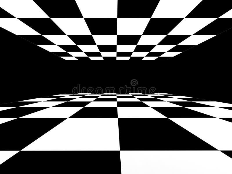 Karierter abstrakter Schwarzweiss-Hintergrund vektor abbildung