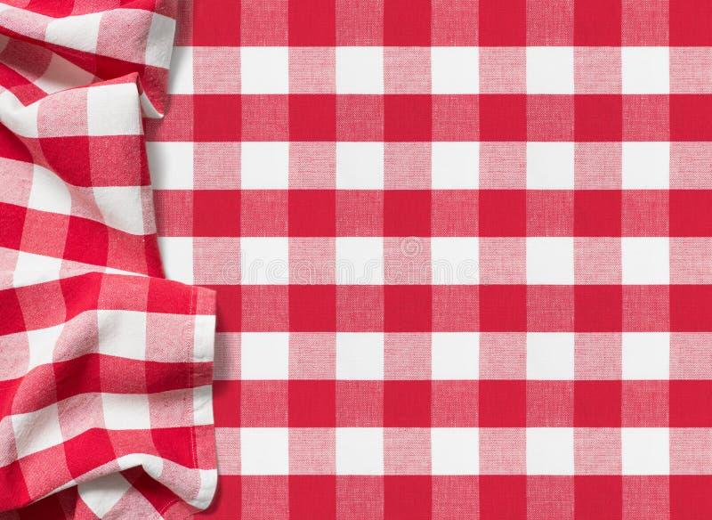 Karierter roter Hintergrund der Picknicktischdecke lizenzfreies stockfoto
