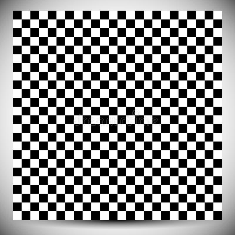 Kariertes geometrisches Muster Abstraktes ungefärbtes Muster mit squ lizenzfreie abbildung