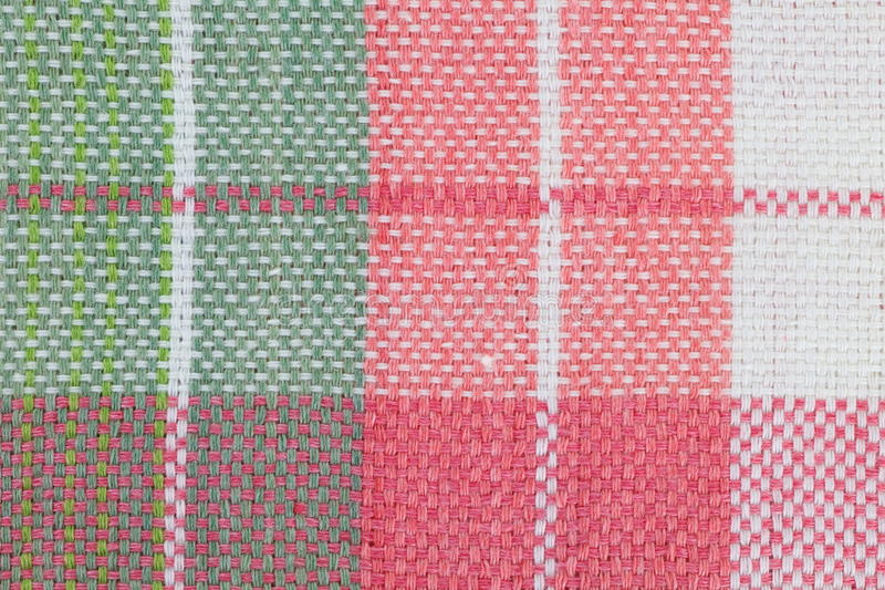 kariertes Muster der Tischdecke stockbilder