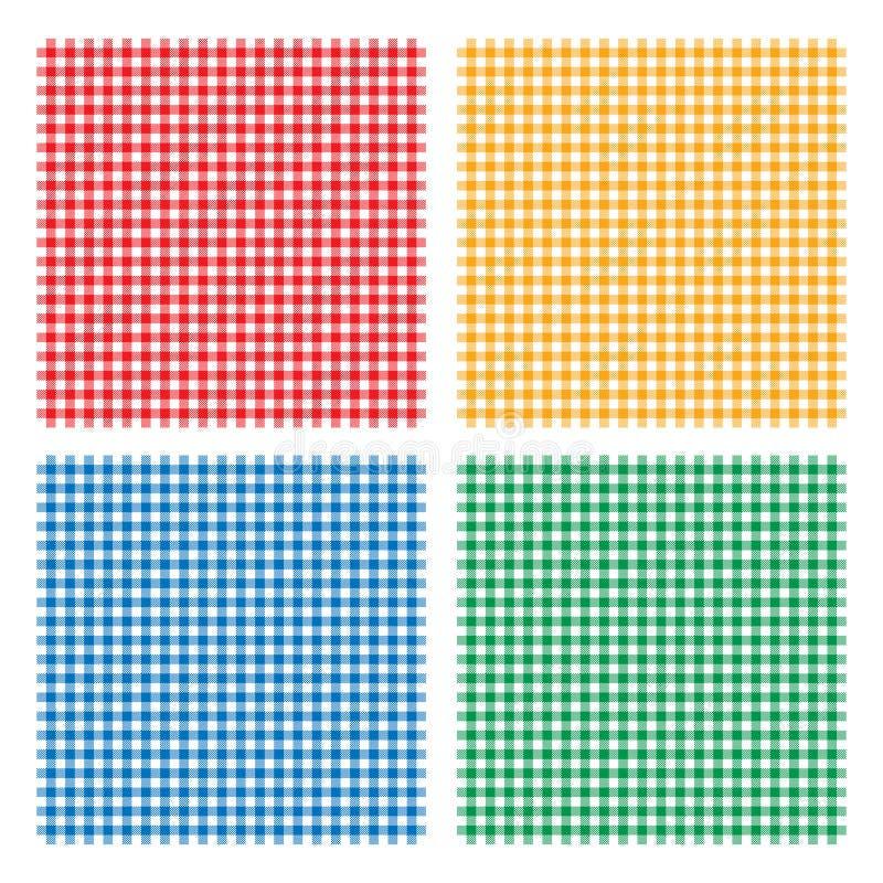 Kariertes Picknick, das nahtloses Muster der Tischdecke kocht lizenzfreie abbildung