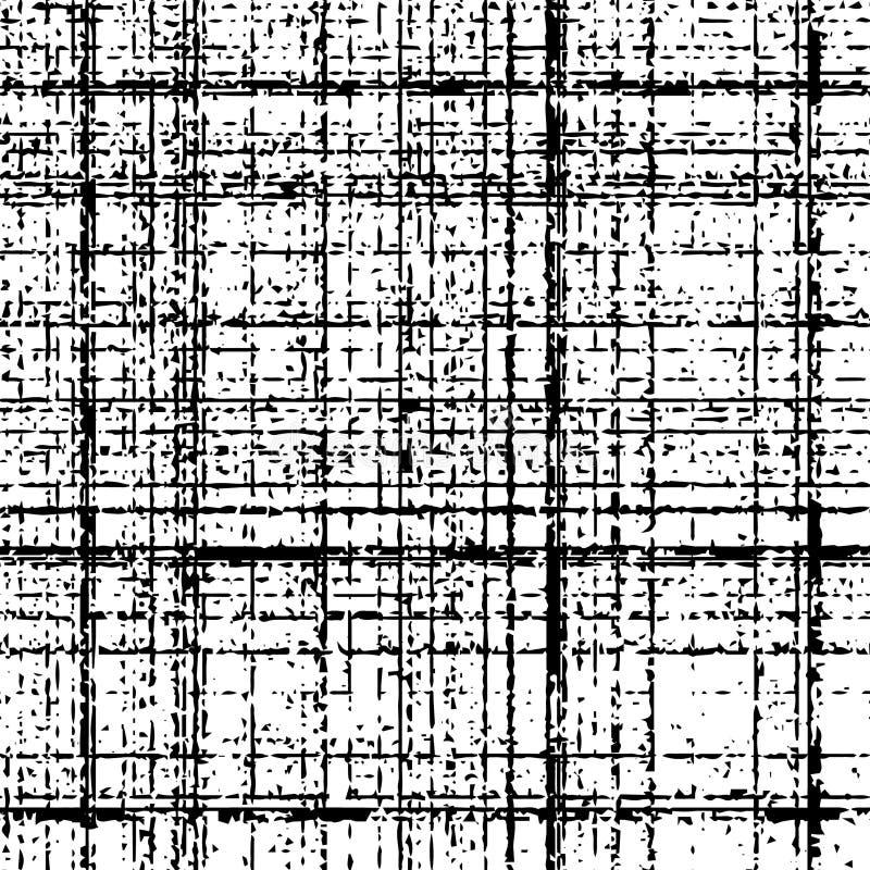 Kariertes Schmutzschwarzmuster vektor abbildung