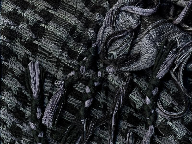 Kariertes Taschentuch Makro stockbilder