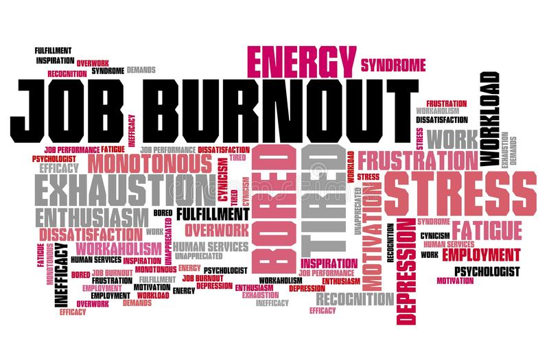 Kariery burnout ilustracja wektor