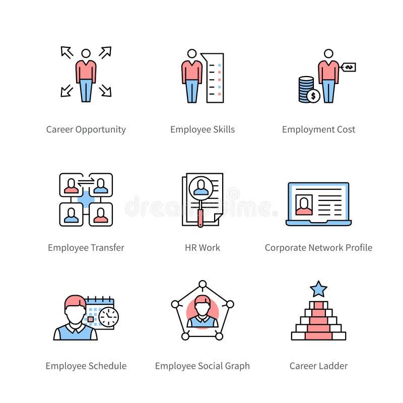 Kariery zarządzanie i profesjonalisty rozwój ilustracji