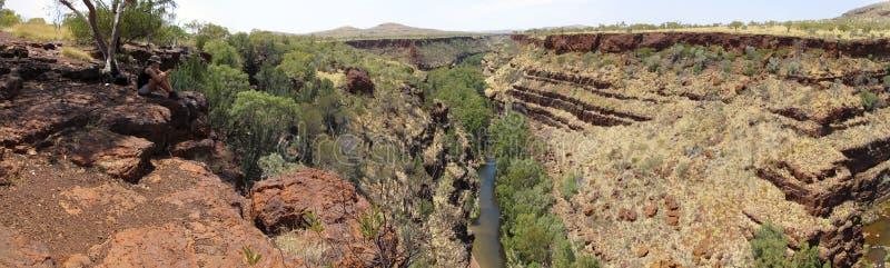 Karijini Nationaal Park, Westelijk Australië royalty-vrije stock afbeelding