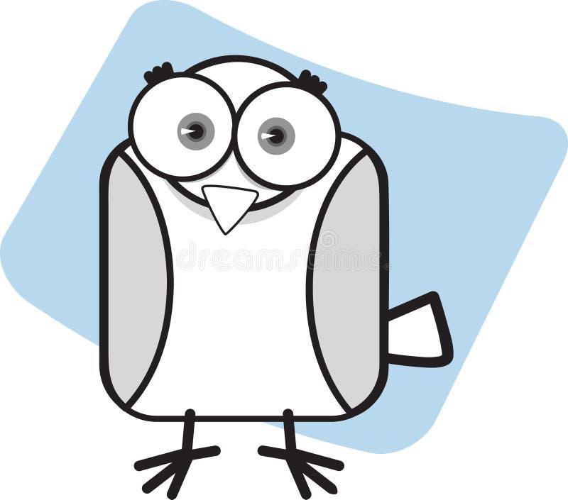 Karikatur-Adler in Schwarzweiss lizenzfreie abbildung
