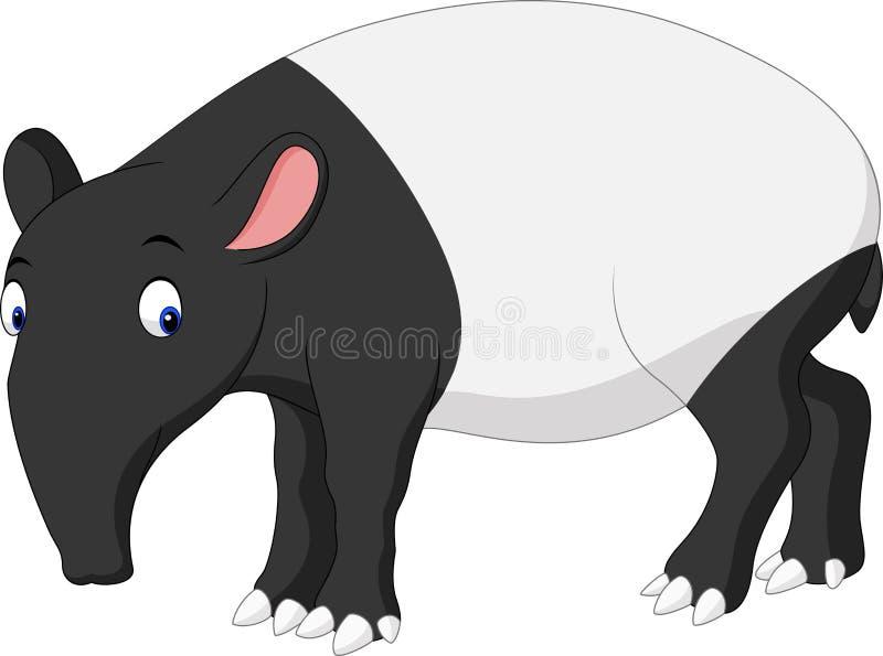 Karikatur-Asiatstapir stock abbildung