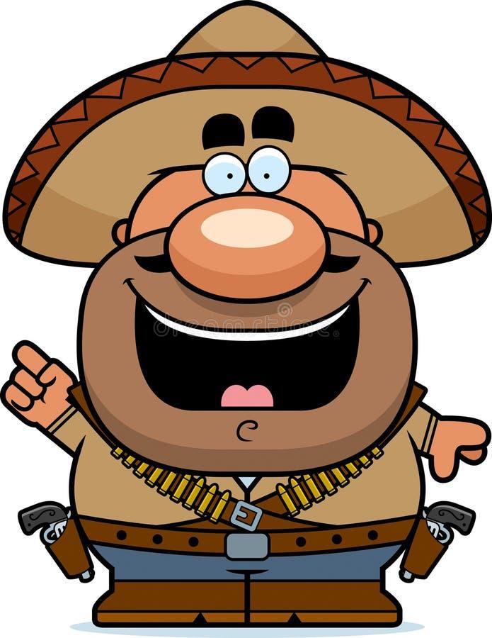 Karikatur Bandito-Idee lizenzfreie abbildung