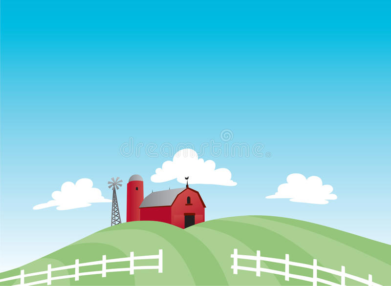 Karikatur-Bauernhof stock abbildung