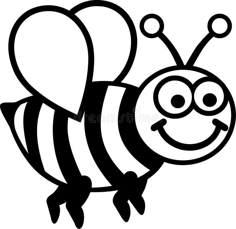 Karikatur-Biene vektor abbildung