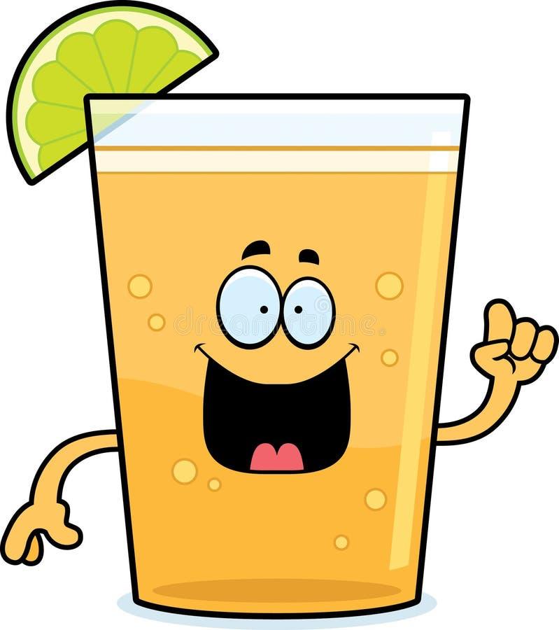Karikatur-Bier mit Kalk-Idee lizenzfreie abbildung