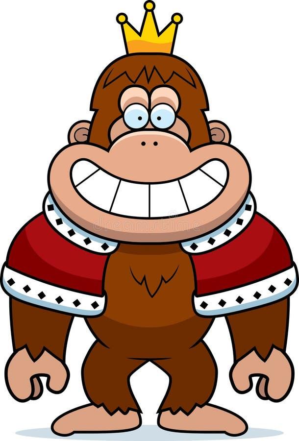 Karikatur-Bigfoot-König lizenzfreie abbildung