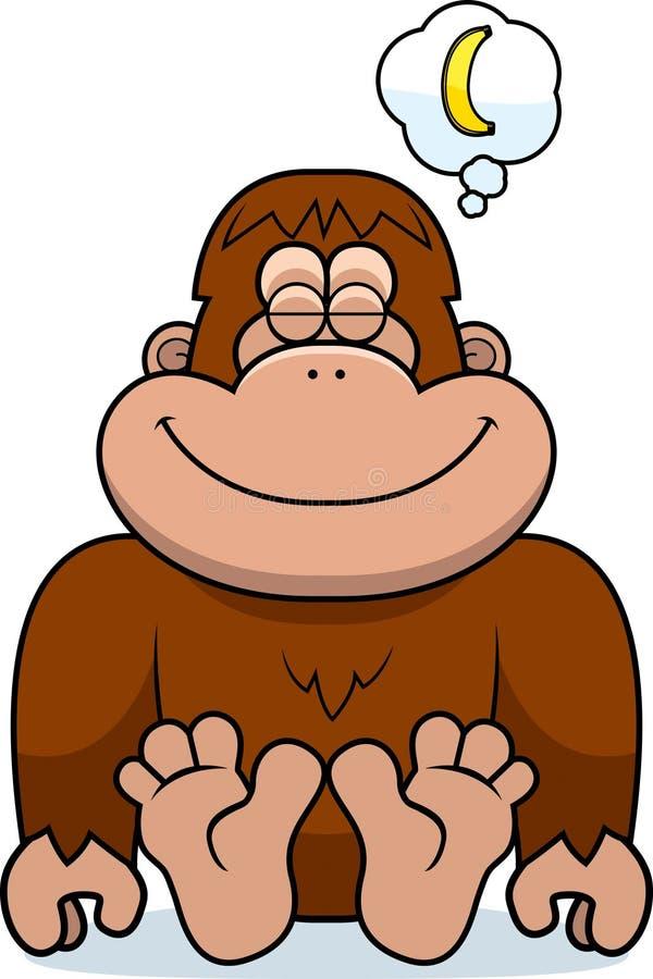 Karikatur-Bigfoot-Träumen vektor abbildung