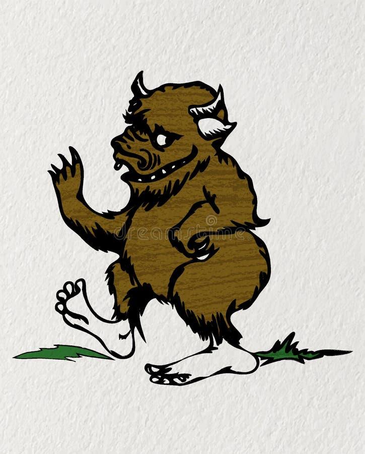 Karikatur Bigfoot stock abbildung
