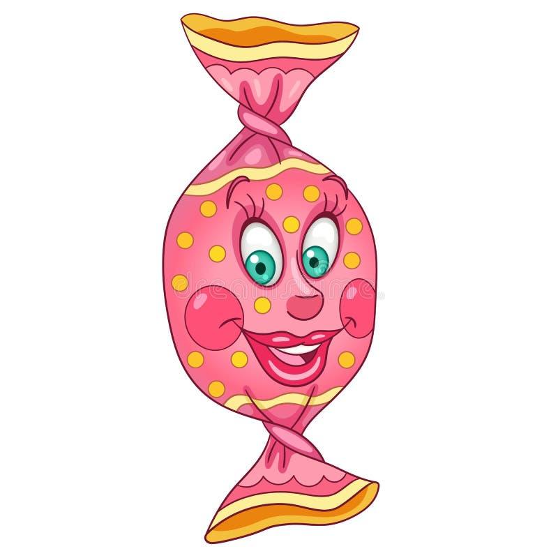 Karikatur-Bonbon-Süßigkeit vektor abbildung