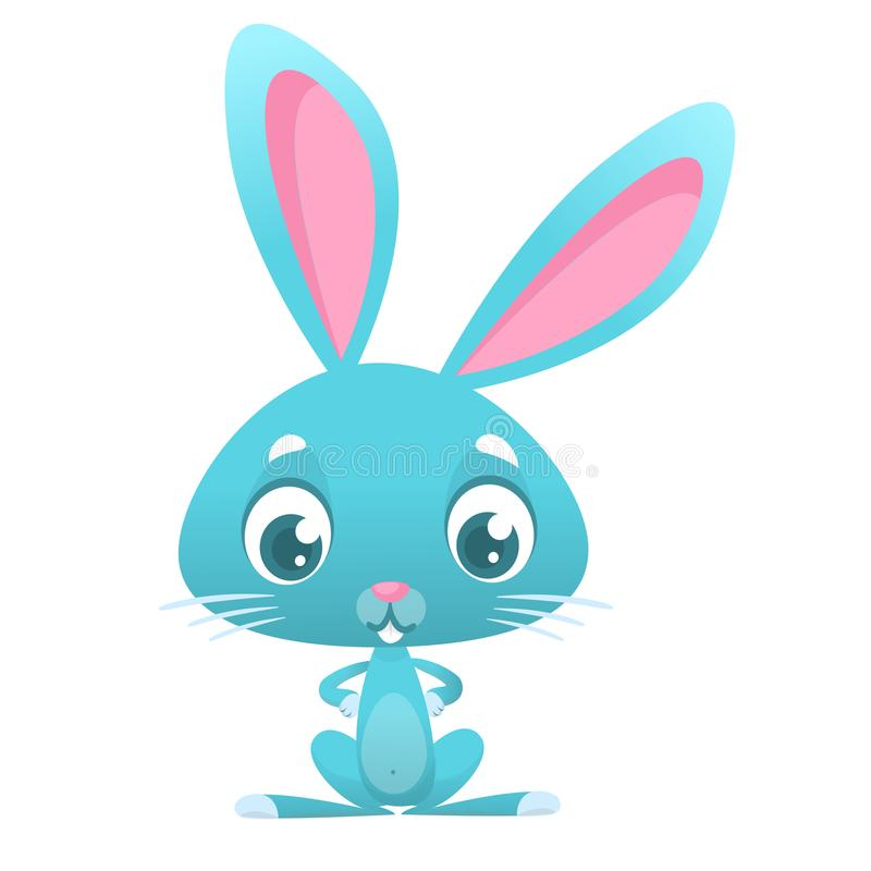 Karikatur Bunny Rabbit Ostern-Charakter Vektorillustration des Waldtieres vektor abbildung
