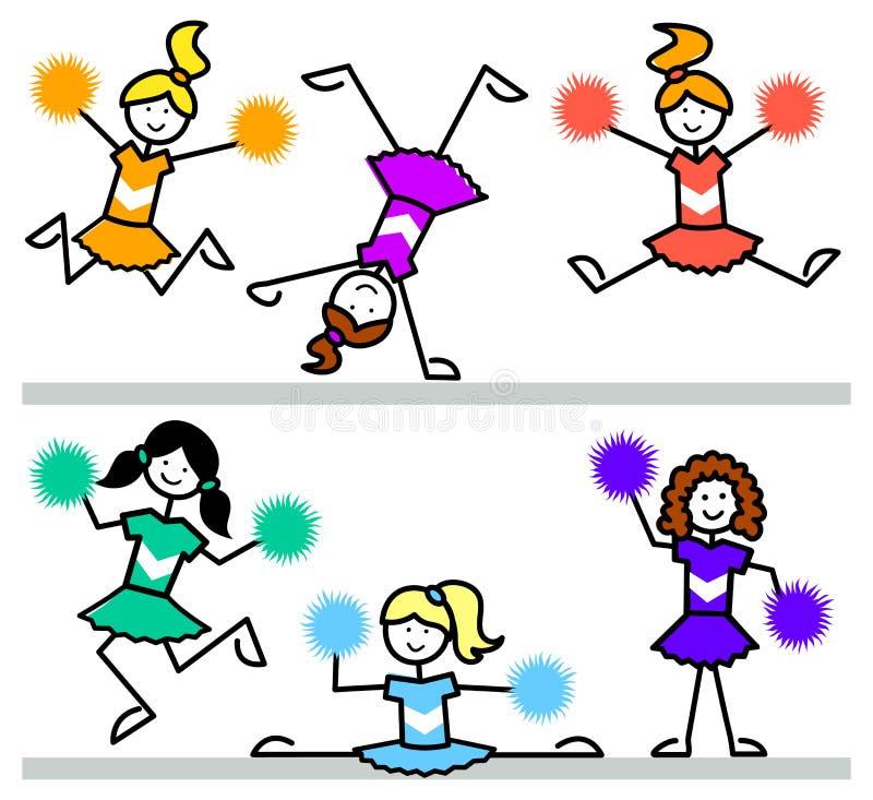 Karikatur-Cheerleader-Kinder