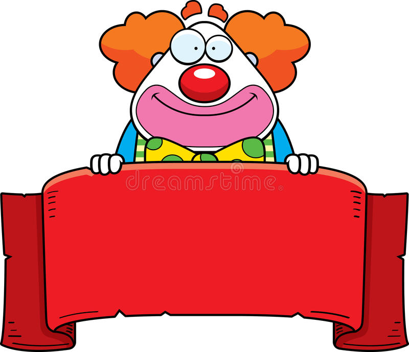 Karikatur-Clown Banner stock abbildung