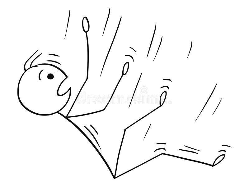 Karikatur des Mannes oder des Geschäftsmannes Falling Down stock abbildung
