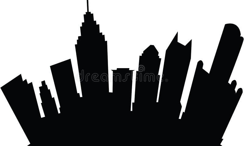 Karikatur Detroit lizenzfreie abbildung