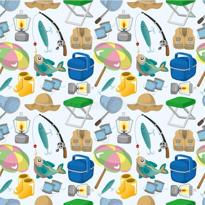 Karikatur, die nahtloses Muster fischt stock abbildung